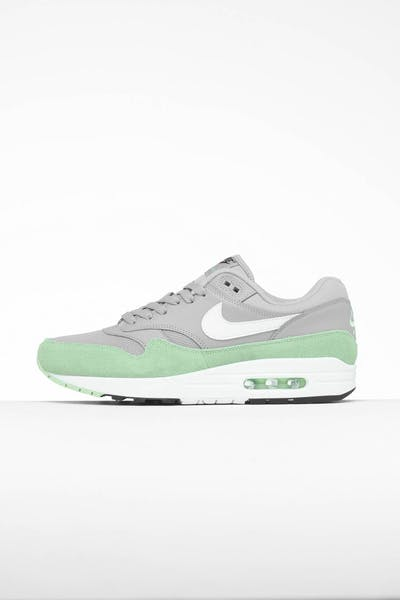the latest 0285c 9fdc3 Nike Air Max 1 Grey White Green