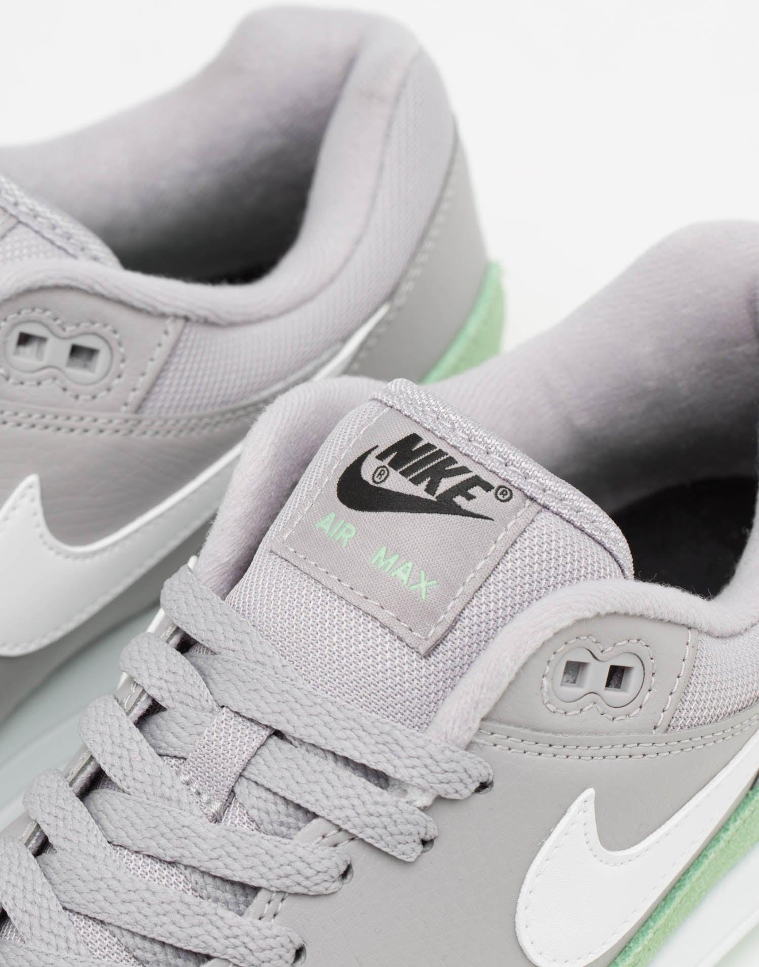 nike air max 1 grey and green