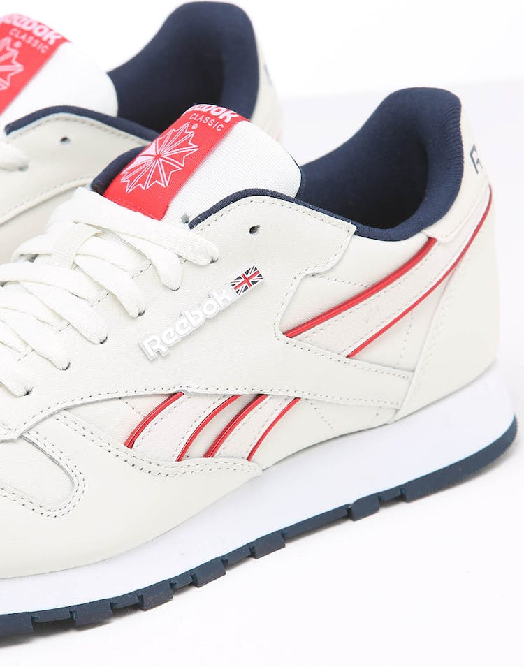 Rebook CL Leather MU Chalk/Navy/Red