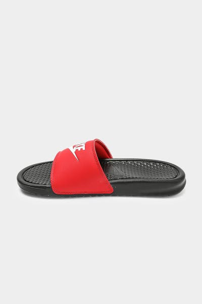"Nike Benassi ""JUST DO IT"" Slide Black/White/Red"