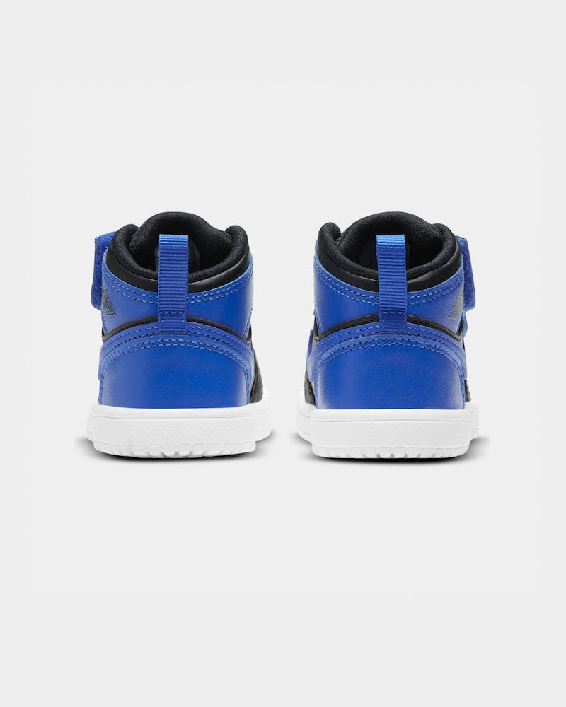 "Jordan Toddler's Air Jordan 1 Mid ""Hyper Royal"" (TD) Black/Hyper Royal/White"