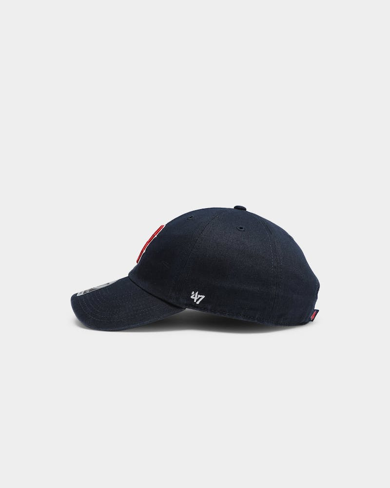 47 Brand Men's Boston Red Sox Clean Up Strapback Navy