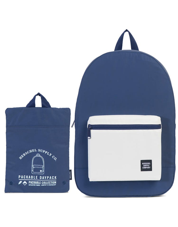 97742c28457 Herschel Supply Co Day Night Packable Daypack Navy White Reflective –  Culture Kings