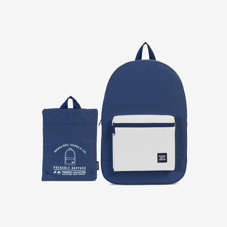 Herschel Supply Co Day Night Packable Daypack Navy White Reflective –  Culture Kings 1622bc87677c9