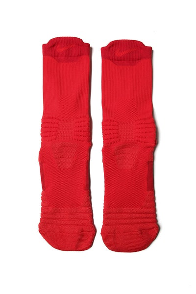 Nike Elite Versatility Mid Basketball Sock Red/Red
