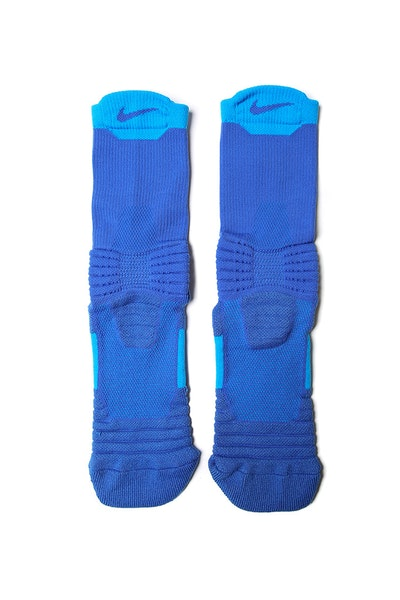 Nike Elite Versatility Mid Basketball Sock Blue/Blue