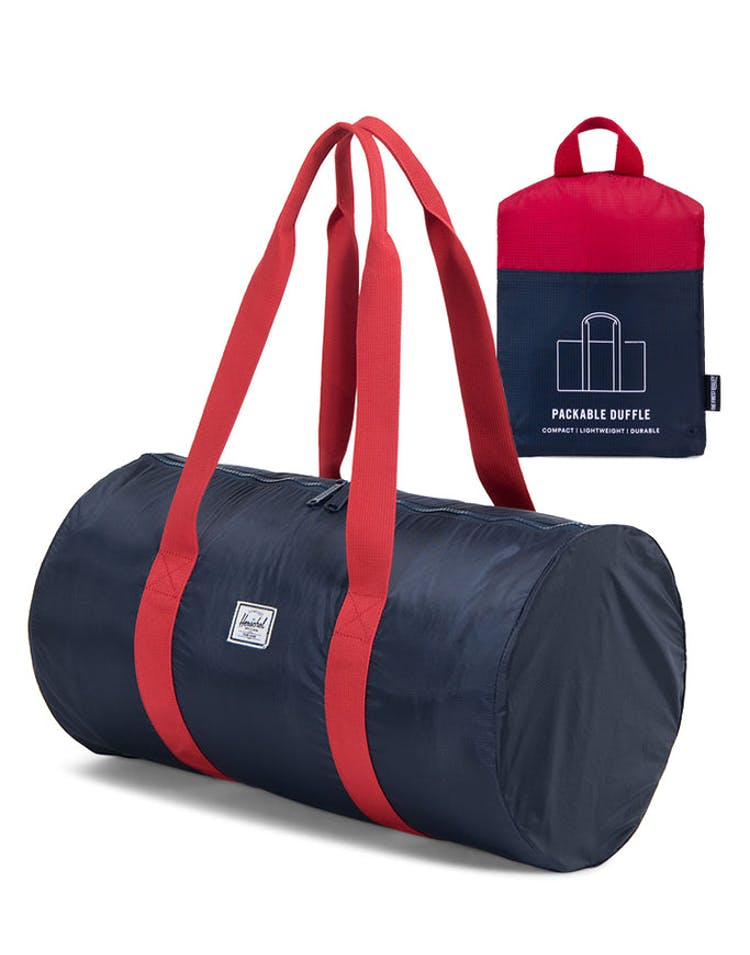 ba68f01e088 Herschel Supply Co Packable Duffle Navy Red – Culture Kings