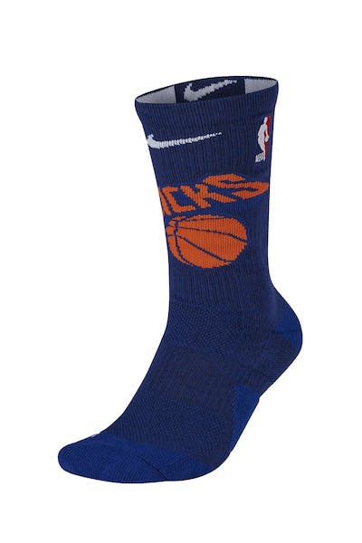 Nike New York Knicks Elite Crew Sock Blue/Orange/White