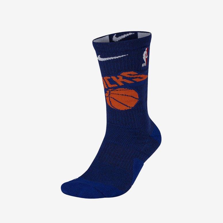 329cbaeda09 Nike New York Knicks Elite Crew Sock Blue Orange White – Culture Kings