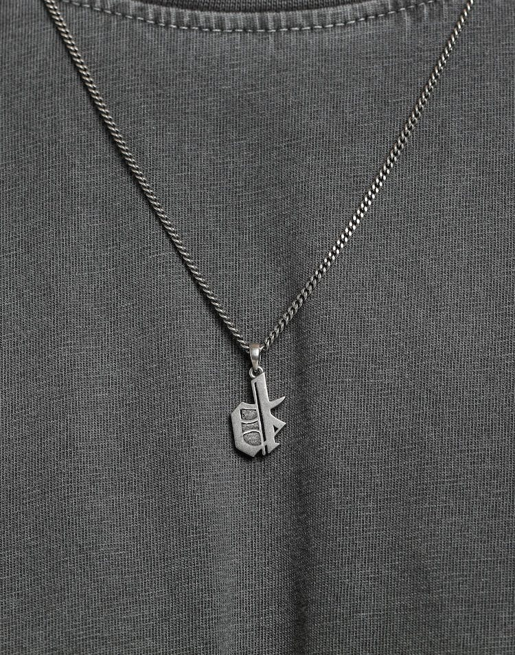 District Goods Initial Necklace Silver
