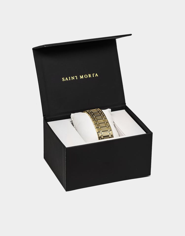 Saint Morta Links Bracelet Iced Gold