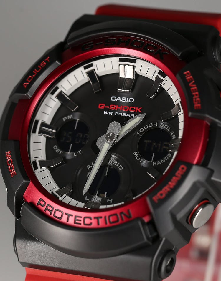 G Shock Gas100rb A1 Key Colors Black Red