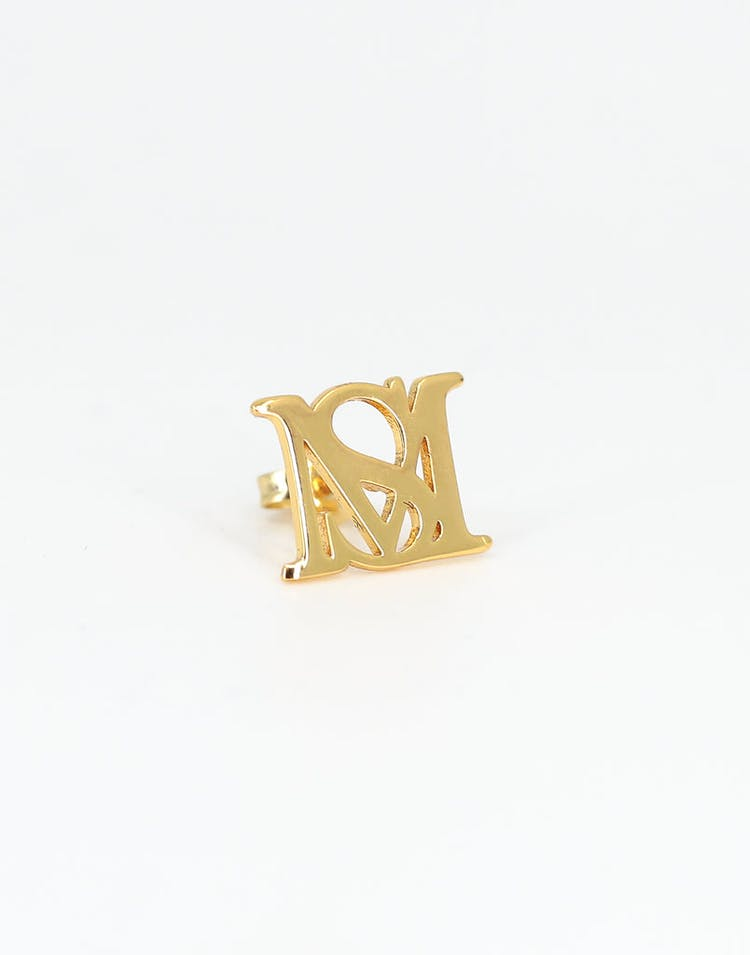 Saint Morta Monogram Stud Earring Gold