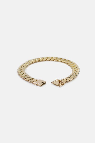 "HOUSE OF AURIC 10MM CUBAN LINK 10"" BRACELET 10K GOLD"