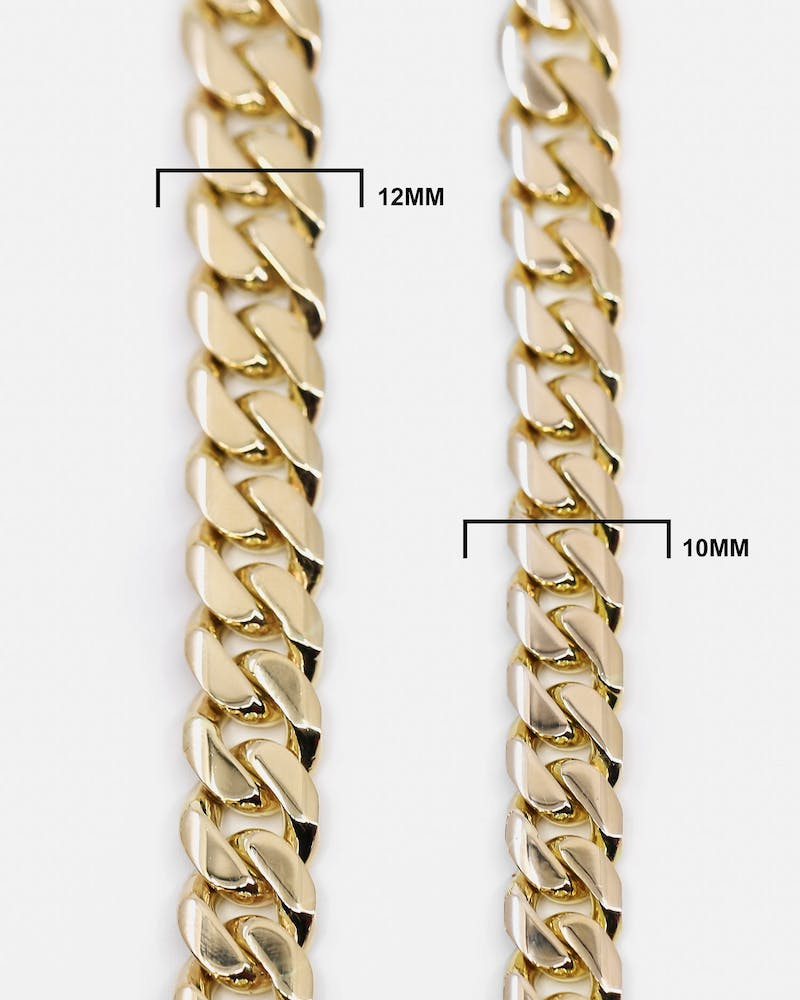 "HOUSE OF AURIC 10MM CUBAN LINK 18"" CHAIN 10K GOLD"