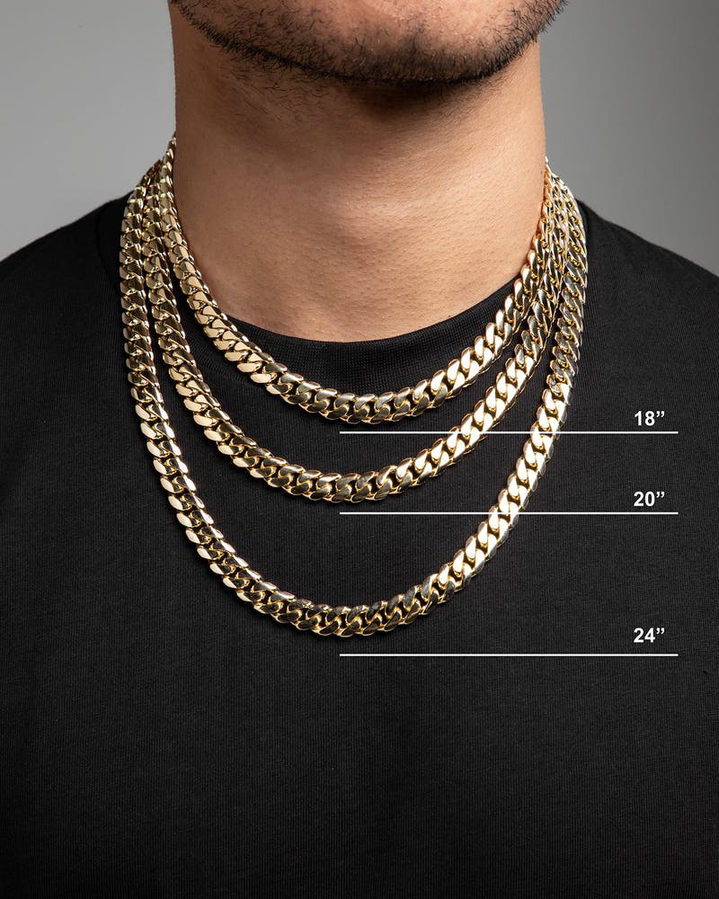 "HOUSE OF AURIC 10MM CUBAN LINK 24"" CHAIN 10K GOLD"