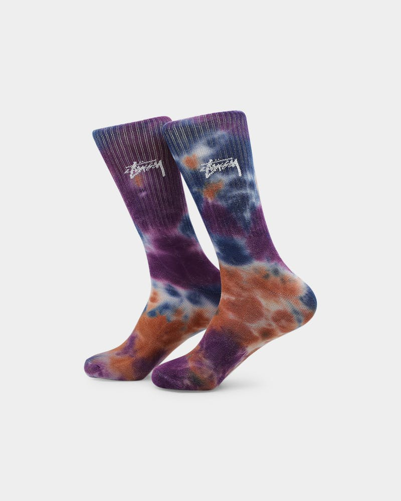 Stussy Graffiti Tie Dye Sock 3PK Multi-coloured