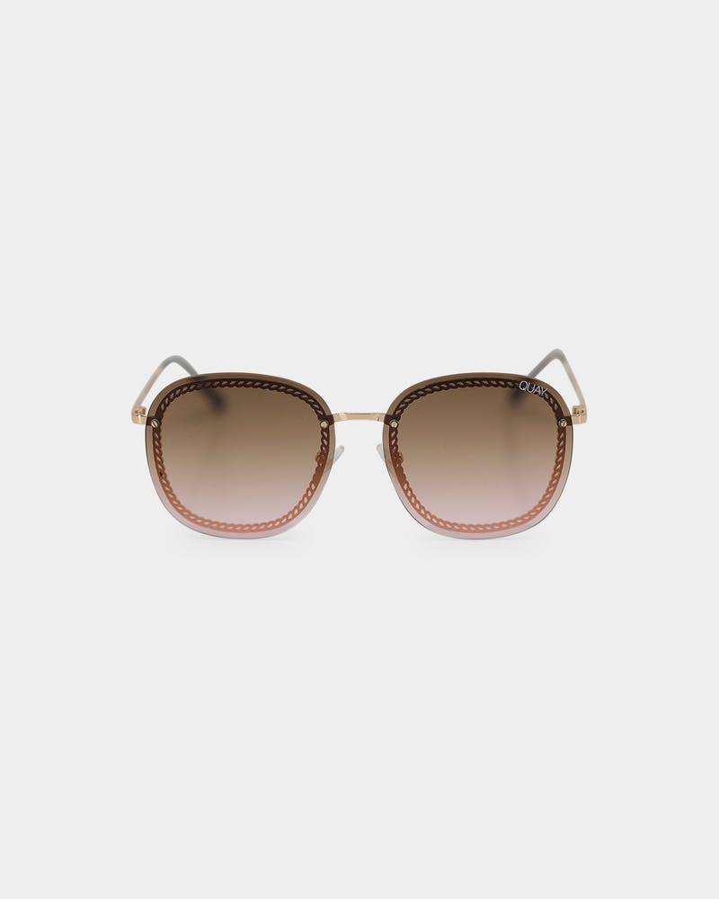 Quay Australia Jezabell Chain Gold/Brown/Pink