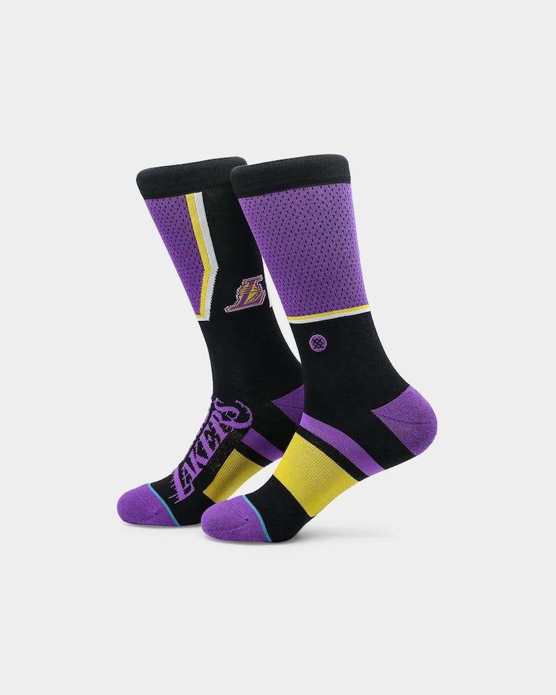 Stance Los Angeles Lakers Shortcut Socks Purple