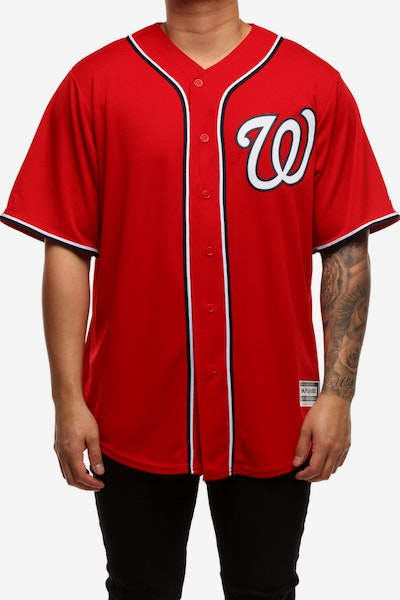 Majestic Athletic Washington Nationals Cool Base Jersey Scarlet