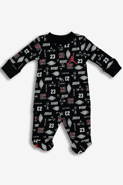 Nike Infant JDB MJ All-Over Print Footed Coverall Black