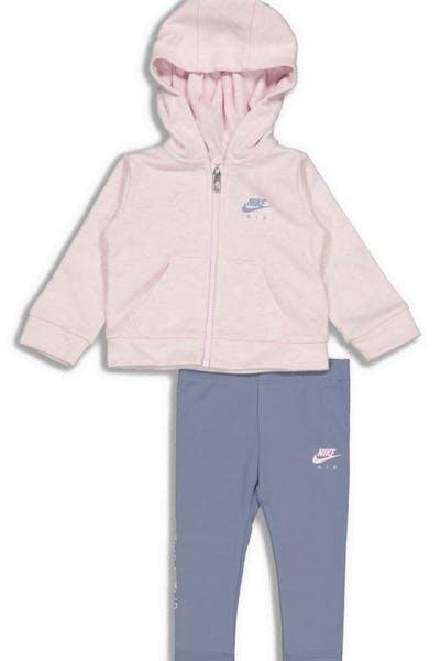 b4c990823 Nike Infant NKG G NSW Full Zip Air Leg Set Pink Grey