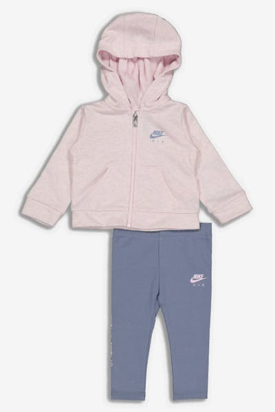 Nike Infant NKG G NSW Full Zip Air Leg Set Pink Grey e2253f08d090e