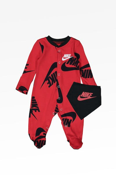 Nike Kids NSW Footed Coverall And Bib University Red
