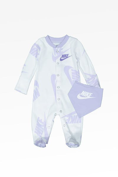 Nike Kids NSW Footed Coverall And Bib White