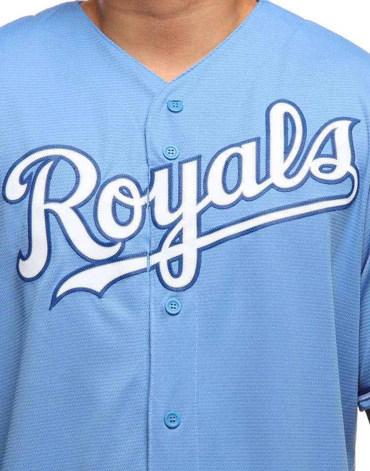 Majestic Athletic Kansas City Royals Cool Base Jersey Sky Blue