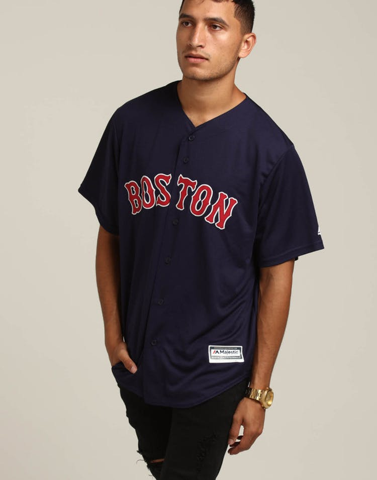 22ea26ee2 Majestic Athletic Boston Red Sox Cool Base Jersey Navy – Culture Kings