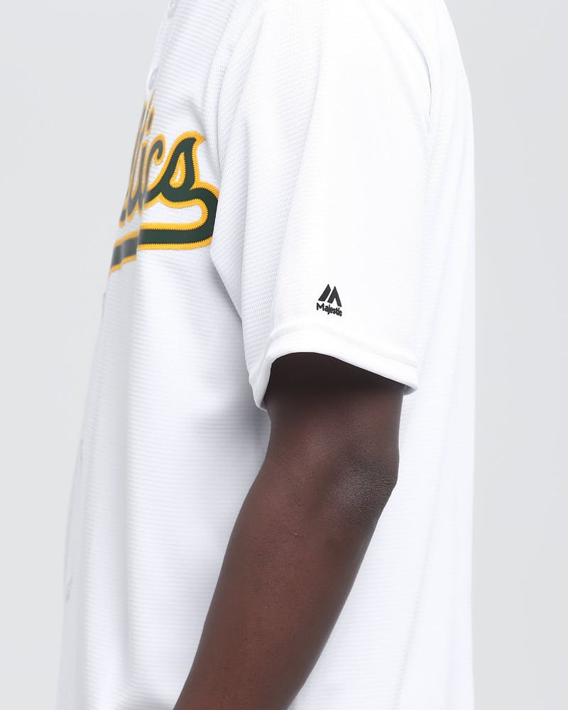 MAJESTIC ATHLETIC OAKLAND ATHLETICS COOL-BASE BASEBALL JERSEY WHITE