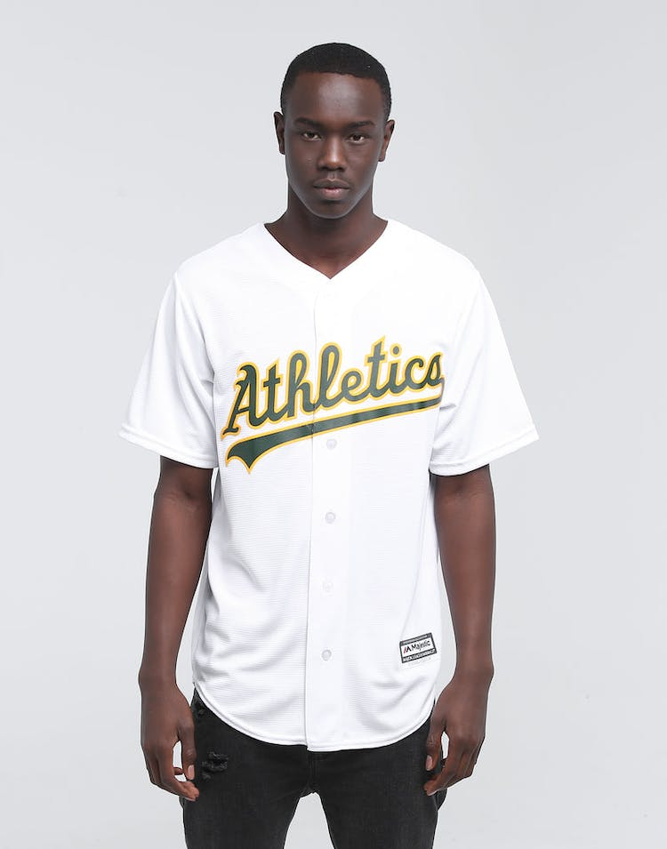 on sale 1896a 000cc MAJESTIC ATHLETIC OAKLAND ATHLETICS COOL-BASE BASEBALL JERSEY WHITE
