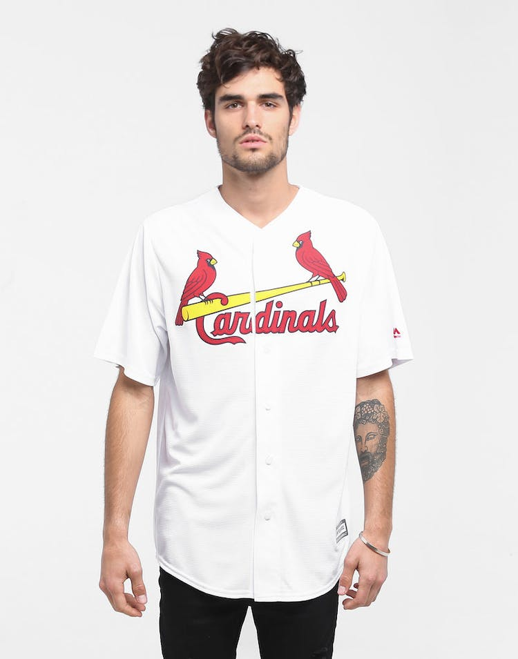 online store f3d54 1ec72 MAJESTIC ATHLETIC CARDINALS COOL-BASE BASEBALL JERSEY WHITE