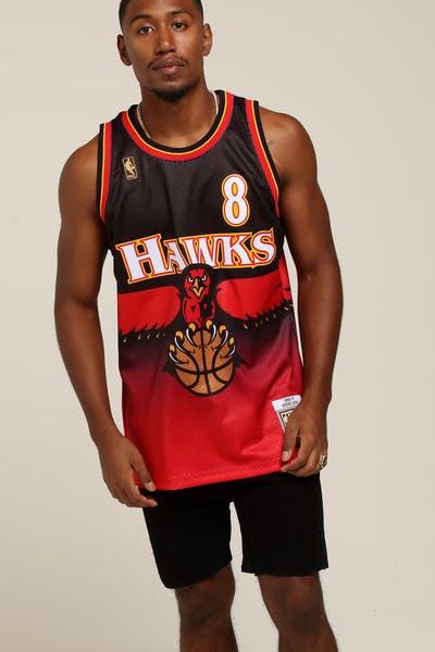 bad7ea46e Mitchell   Ness Atlanta Hawks Steve Smith  8 Road Swingman NBA Jersey Red