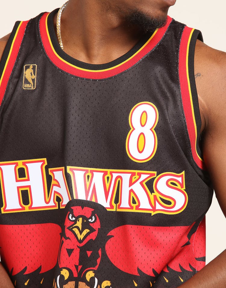 214c39c9f34 Mitchell & Ness Atlanta Hawks Steve Smith #8 Road Swingman NBA Jersey Red