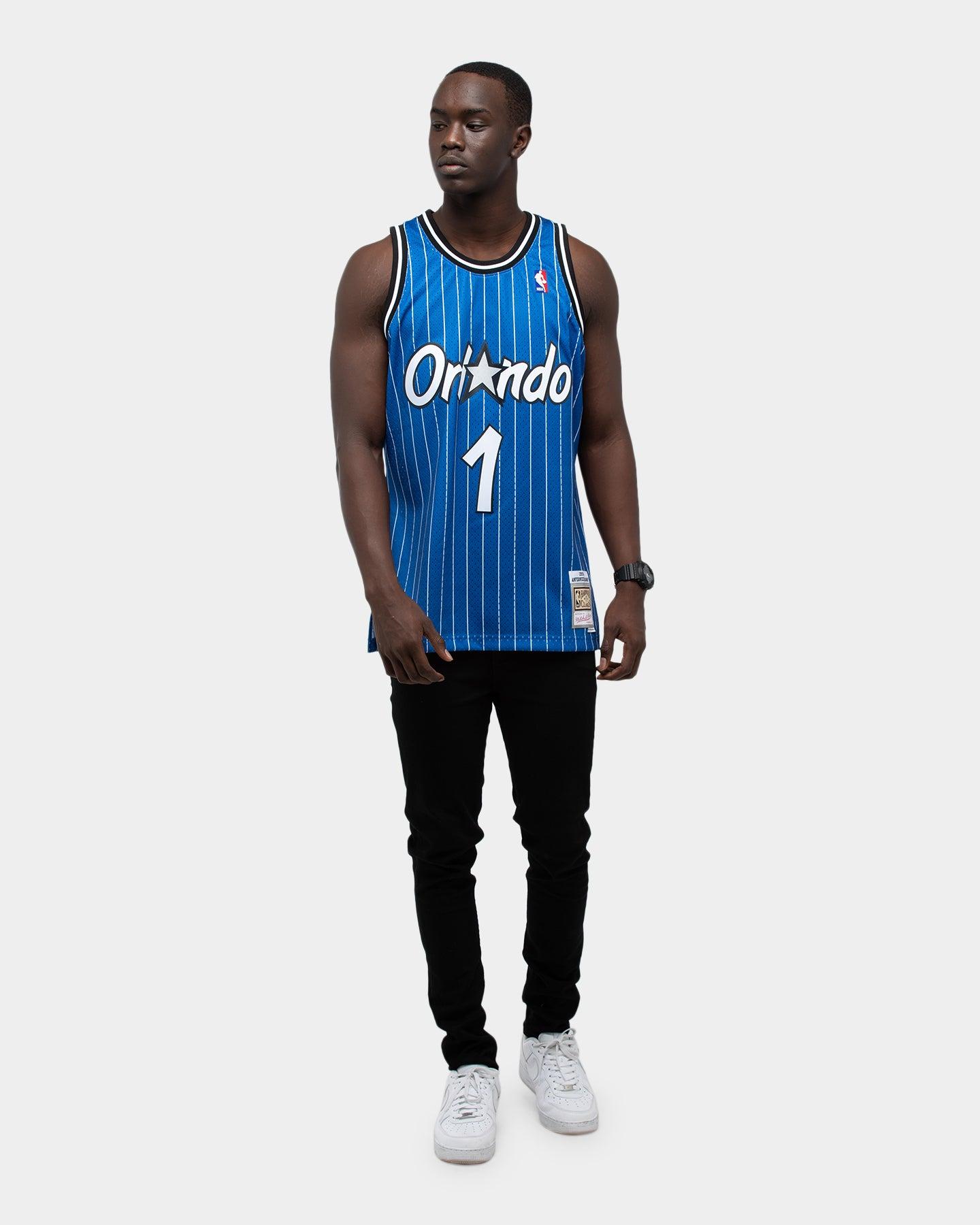 BLUE Mitchell /& Ness Orlando Magic Penny Hardaway #1 NBA Swingman Jersey