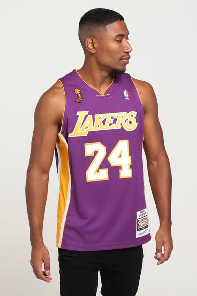 aa2ef963c75 Mitchell   Ness Los Angeles Lakers Kobe Bryant  24 Authentic NBA Jersey  Purple