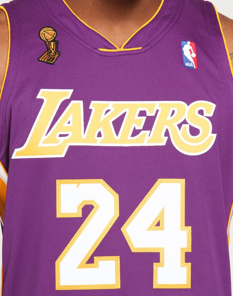 low priced afc51 276b9 Mitchell & Ness Los Angeles Lakers Kobe Bryant #24 Authentic NBA Jersey  Purple
