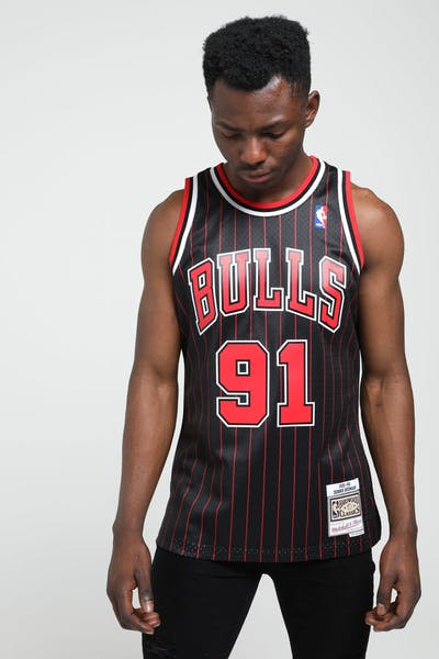 Mitchell & Ness Chicago Bulls Dennis Rodman #91 NBA Swingman Jersey Black/Red
