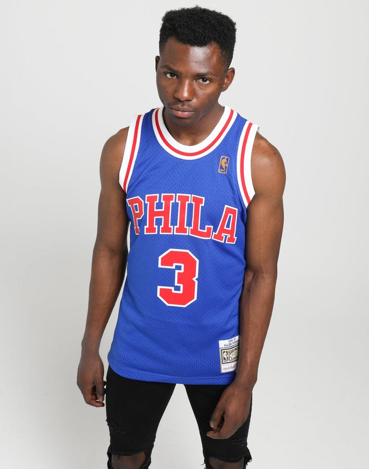 c698a5aa519 Mitchell & Ness | Philadelphia 76ers Allen Iverson #3 NBA Swingman Jersey |  Mens | On Trend – Culture Kings