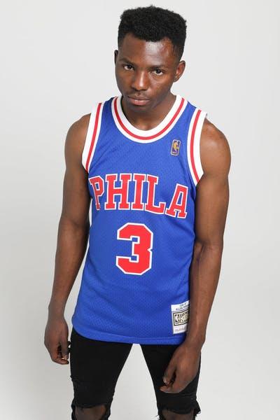 8922000bdb2 Mitchell & Ness Philadelphia 76ers Allen Iverson #3 NBA Swingman Jersey  Royal