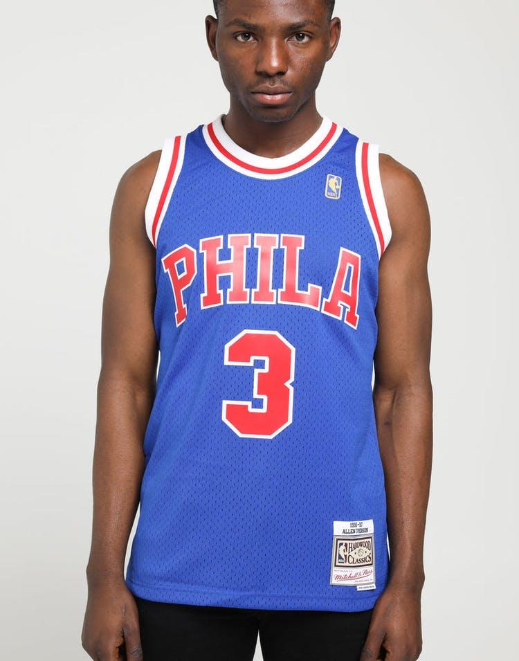 reputable site 0c246 06204 Mitchell & Ness Philadelphia 76ers Allen Iverson #3 NBA Swingman Jersey  Royal