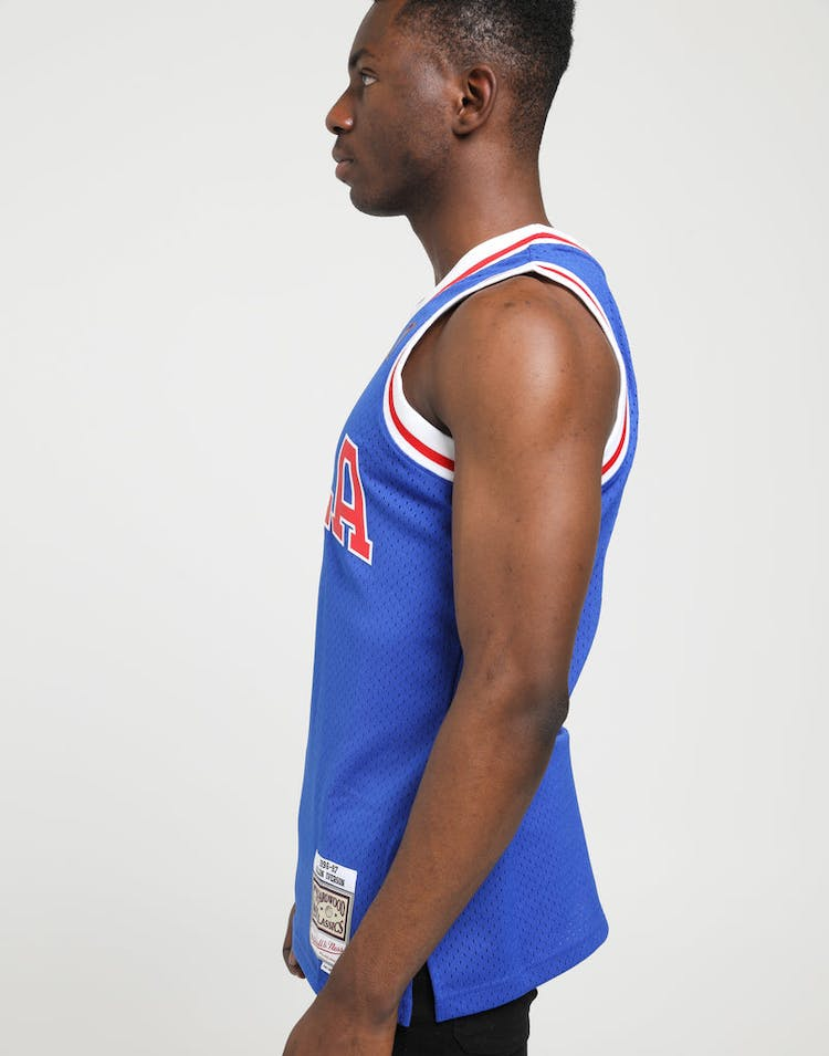 reputable site 64417 ecad6 Mitchell & Ness Philadelphia 76ers Allen Iverson #3 NBA Swingman Jersey  Royal