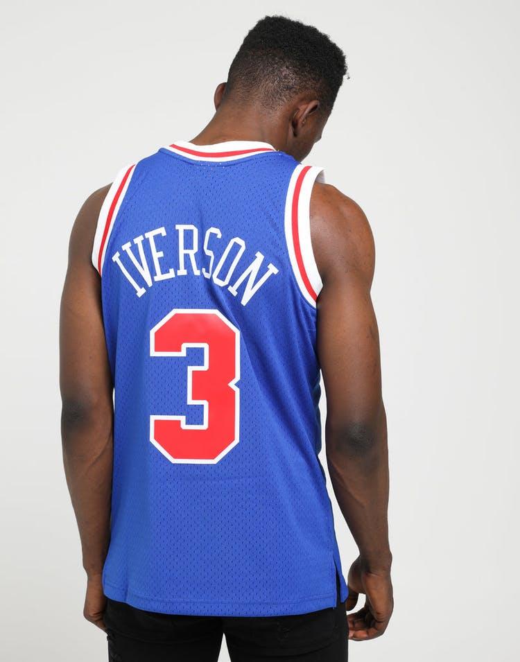 reputable site 37d0a 9818d Mitchell & Ness Philadelphia 76ers Allen Iverson #3 NBA Swingman Jersey  Royal