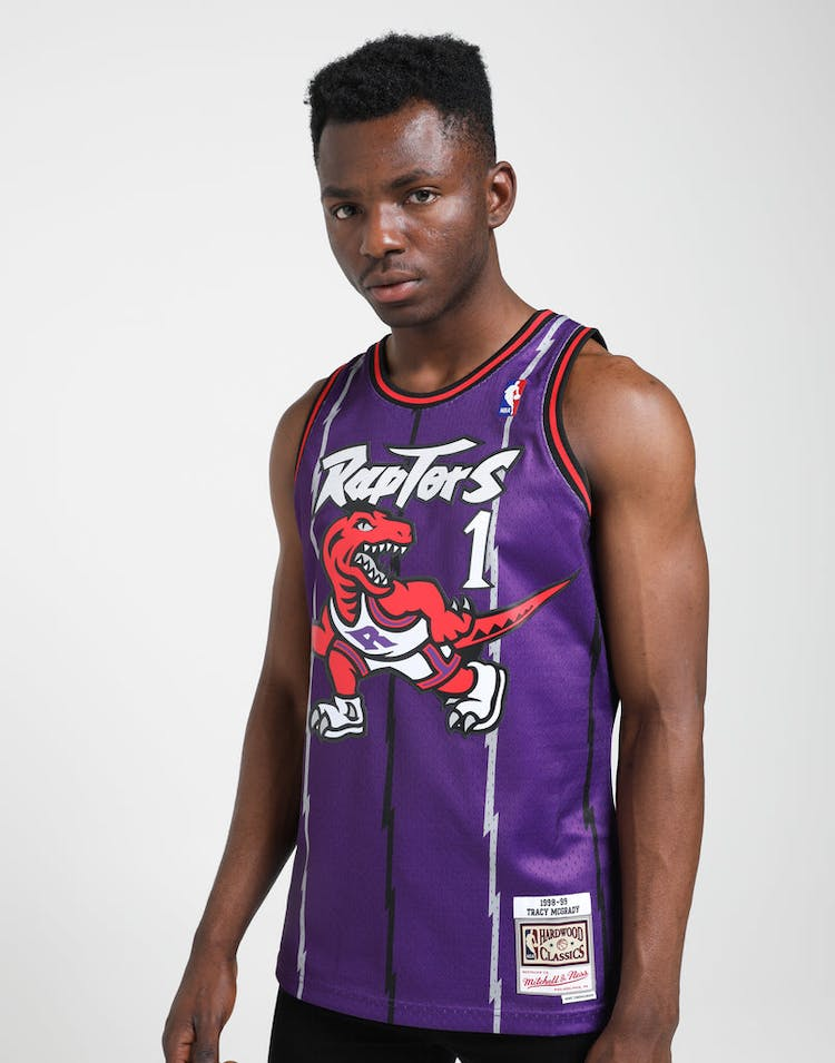 the latest e2325 61e36 Mitchell & Ness Toronto Raptors Tracy McGrady #1 NBA Swingman Jersey  Purple/Red
