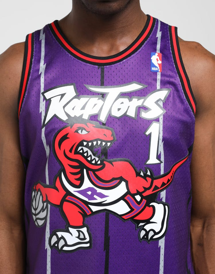the latest 84792 9598c Mitchell & Ness Toronto Raptors Tracy McGrady #1 NBA Swingman Jersey  Purple/Red