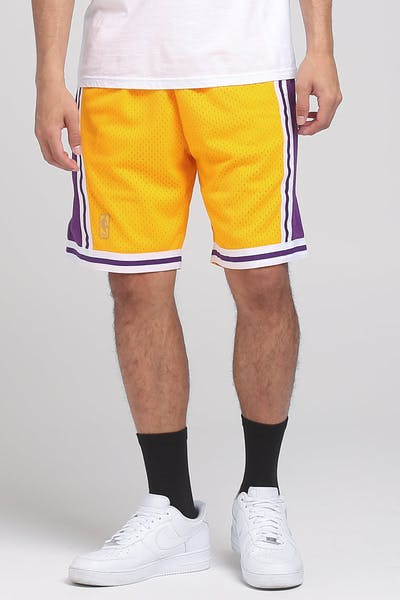 Mitchell & Ness Los Angeles Lakers 96-97 NBA Swingman Shorts Yellow