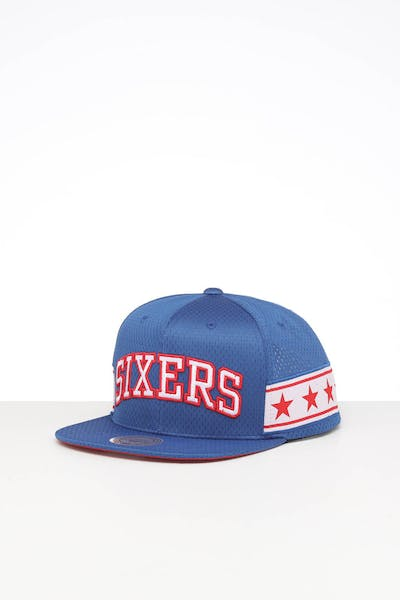 MITCHELL & NESS PHILADELPHIA 76ERS SHORT STACK SNAPBACK ROYAL