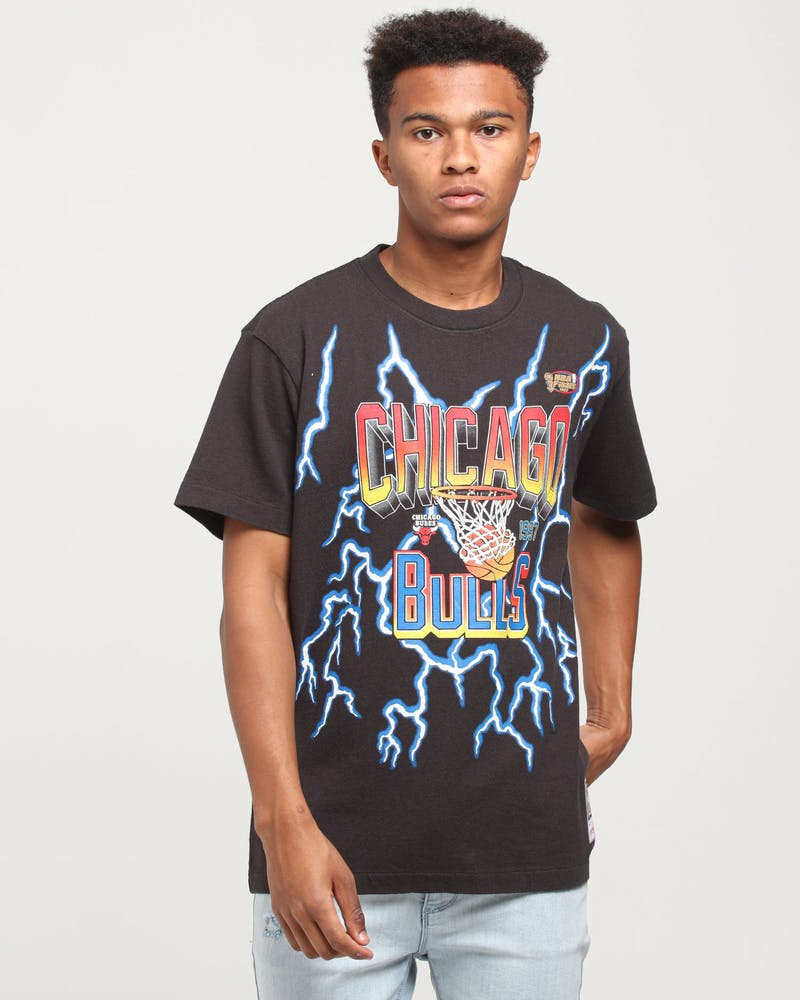 Mitchell & Ness Chicago Bulls Lightning Tee Black